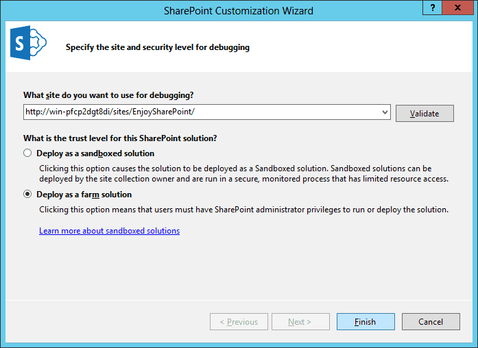 Delegate Controls in SharePoint 2013 using Visual Studio 2013