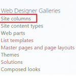 Steps to create Site column using Visual Studio 2013 in SharePoint 2013