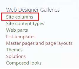 create site column in sharepoint 2013