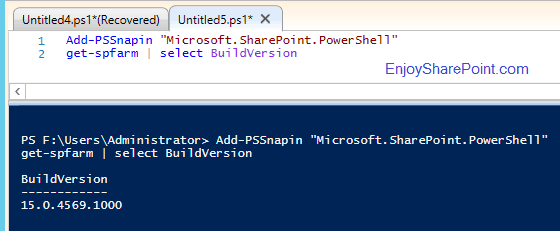 Get SharePoint installed build version using PowerShell