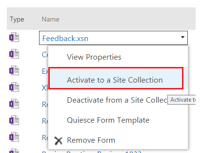 Deploy infopath form to sharepoint online