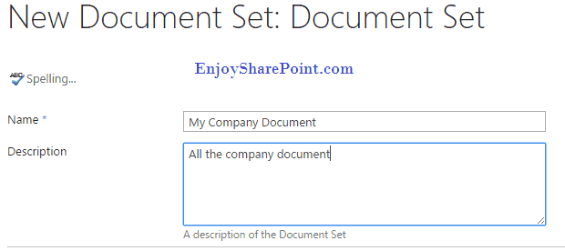 Create Document Sets in SharePoint Online Document Library