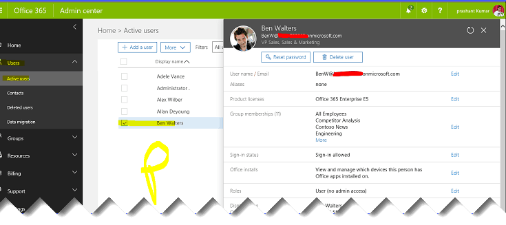 remove former employee office 365
