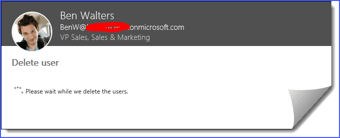 office 365 remove user account