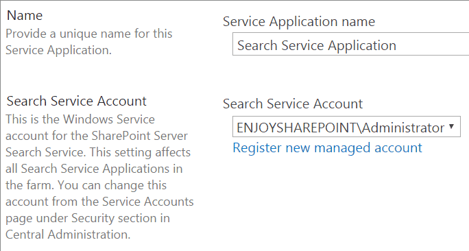 configure search in sharepoint