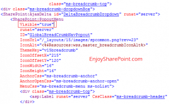 Enable Breadcrumb in SharePoint 2013 or Implement Classic Breadcrumb in SharePoint 2013
