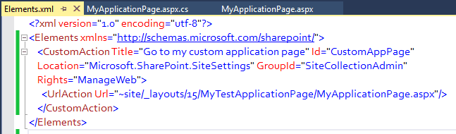 add navigation link in site settings navigation page SharePoint 2013 using visual studio 2013