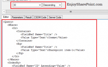 caml query builder sharepoint 2013