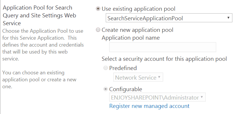 configure search service application sharepoint 2016 step by step