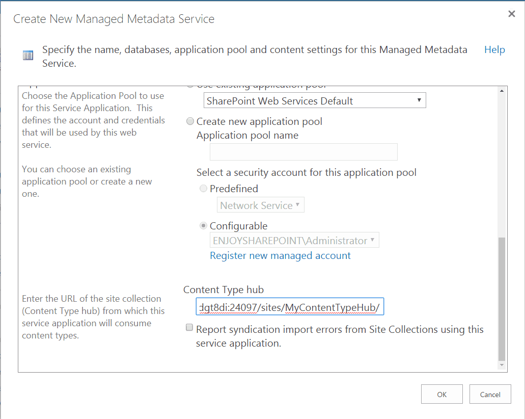 Content Type Hub in SharePoint