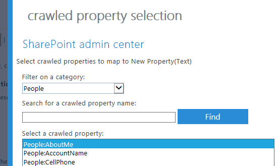 create managed property in sharepoint 2013