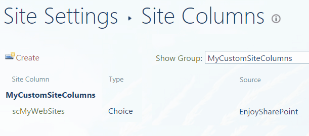 create site column programmatically sharepoint 2013