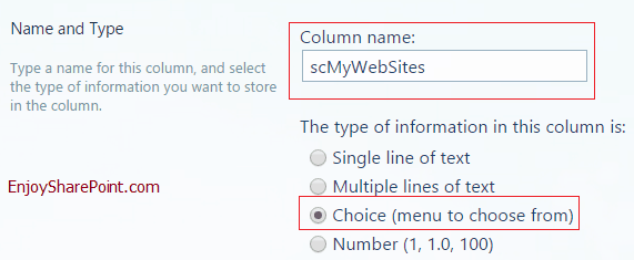 Create site column in SharePoint 2013/2016