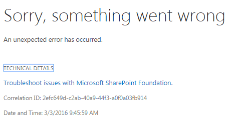 Error while opening content and structure in SharePoint