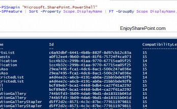 Get SharePoint Features using PowerShell in SharePoint 2013