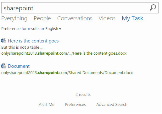 Create SharePoint 2016 Online Search Result Sources and attach to Search Result page