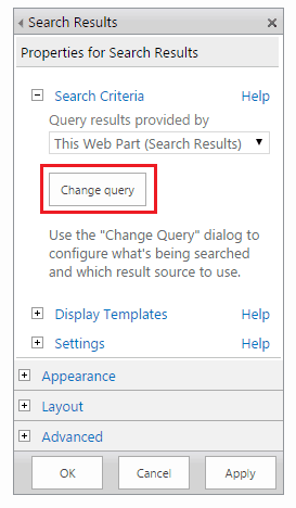 Create SharePoint 2013 Online Search Result Sources and attach to Search Result page