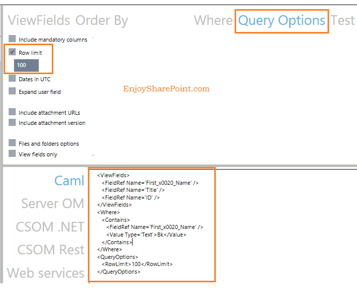 caml query in sharepoint 2013 examples