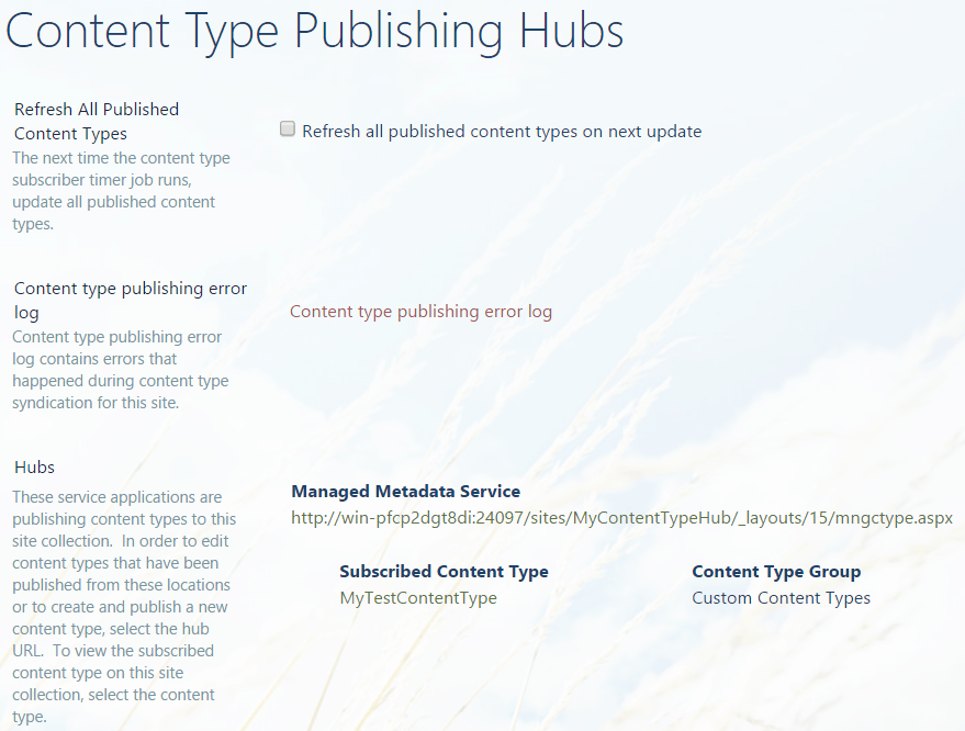 content type hub in sharepoint 2013 step by step
