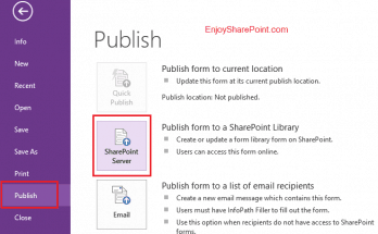 Deploy Administation approved InfoPath forms in SharePoint 2013