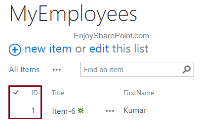 Reset List Item ID in SharePoint 2019 List