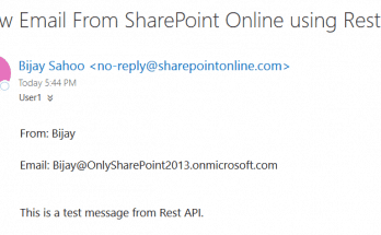 How to send email from SharePoint Online using Rest API?