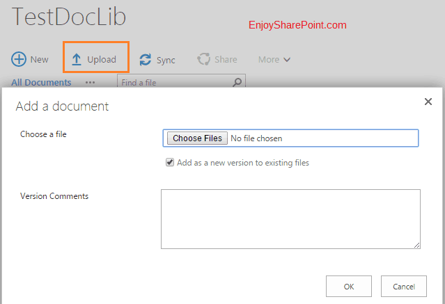 get URL for uploading document to a document library in SharePoint 2013 Online
