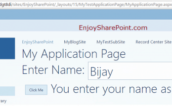 How to create application pages in SharePoint 2013 using Visual Studio 2013?