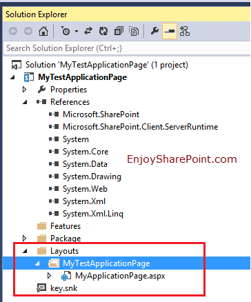 sharepoint 2013 create application page