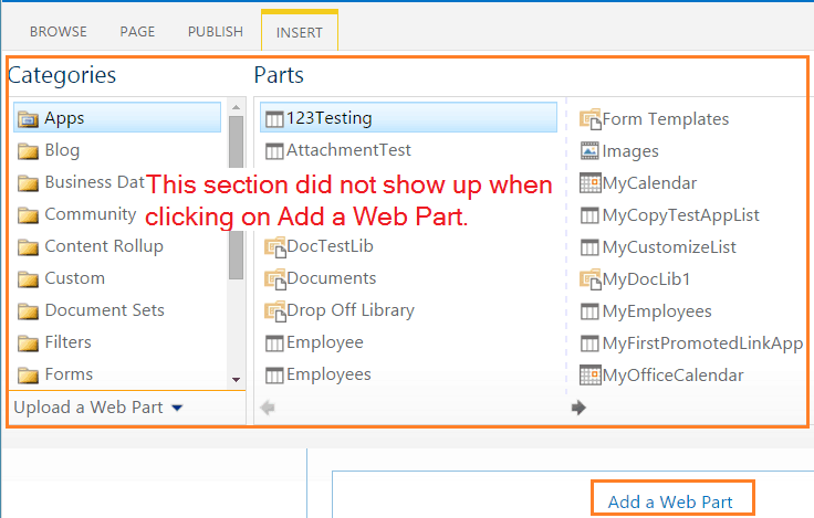 SharePoint 2013 wpadder was missing