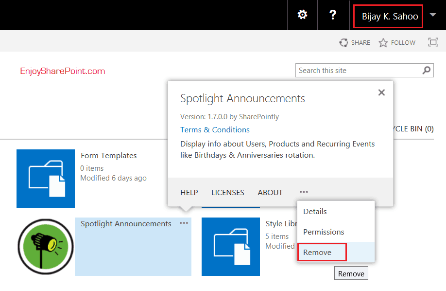 SharePoint 2016 error while removing Apps Sorry something went wrong. Please refresh the page and try again.
