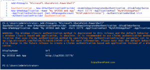 SharePoint 2016 Create web application and Site collection using PowerShell