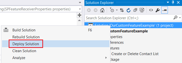 develop custom feature sharepoint 2015 using visual studio 2015