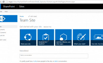 Fast site creation feature sharepoint 2016