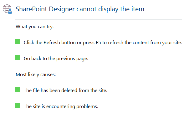 SharePoint Designer cannot display the item error while opening SharePoint 2013 designer workflow