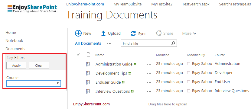 configure metadata navigation for a list or library sharepoint 2016