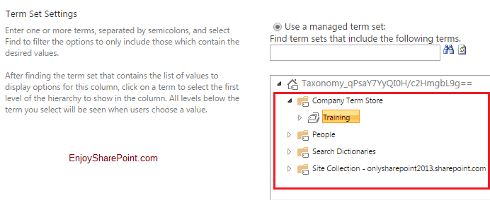 introduction to term store in sharepoint online