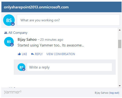 How to integrate Yammer with sharepoint 2013 online and SharePoint 2013 on-premises?