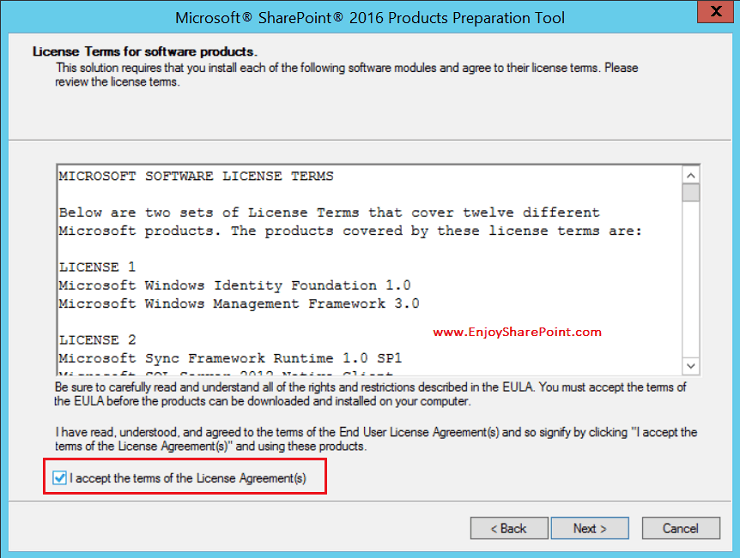 sharepoint 2016 installation