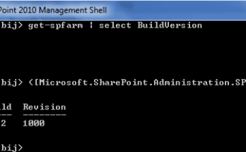 sharepoint version check powershell