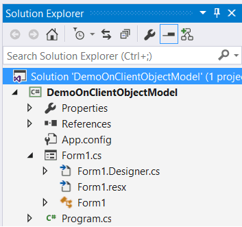 Show All Files button missing in solution explorer visual studio