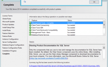 SQL Server 2014 step by step installation guide
