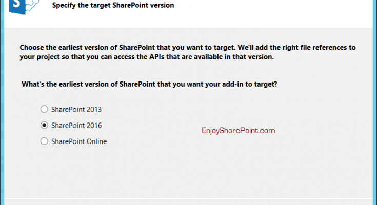 The required version of SharePoint Foundation or SharePoint Server is not installed on this system while developing SharePoint hosted add-in in SharePoint 2016