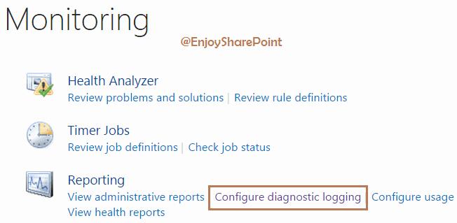sharepoint 2013 change uls log location