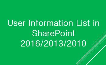 user information list in sharepoint