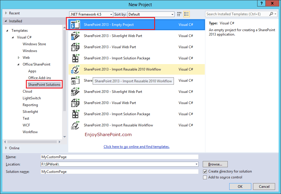Create and Deploy SharePoint 2013 site pages or content pages using Visual Studio 2013