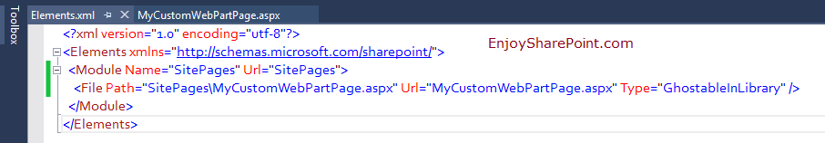 Create web part page using visual studio sharepoint 2013