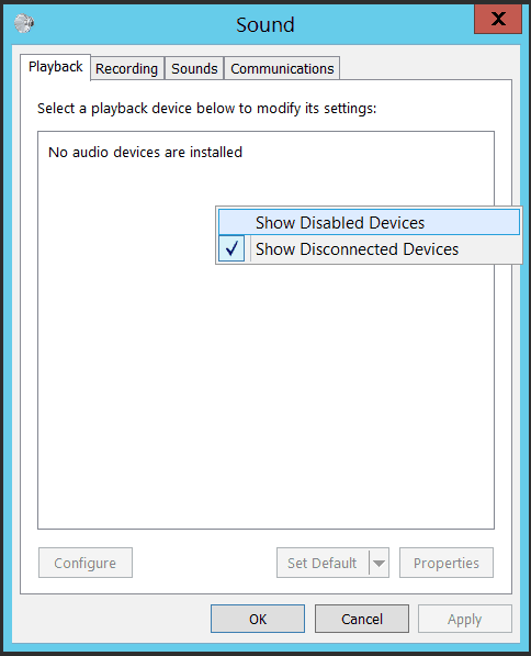 no audio output device is installed dell