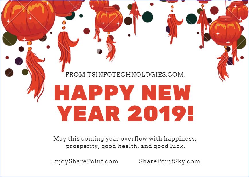 Happy new year 2019 from EnjoySharePoint.com
