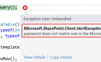 Solved] Microsoft SharePoint Client IdcrlException: The sign-in name